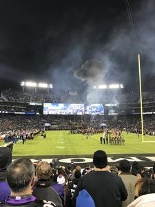 Shawna attended Baltimore Ravens vs. Houston Texans - NFL - Monday Night Football on Nov 27th 2017 via VetTix