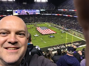 Keith attended Baltimore Ravens vs. Houston Texans - NFL - Monday Night Football on Nov 27th 2017 via VetTix