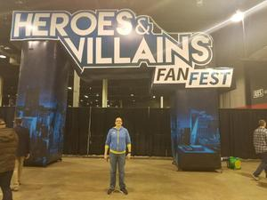 Christopher attended Heroes and Villains Fan Fest on Apr 7th 2018 via VetTix