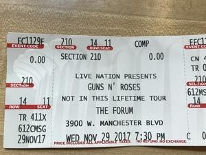 David attended Guns N' Roses: Not in This Lifetime Tour on Nov 29th 2017 via VetTix