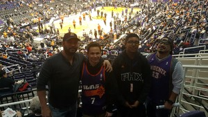 Anthony attended Phoenix Suns vs. Toronto Raptors - NBA on Dec 13th 2017 via VetTix