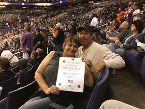 LYN & JOHN attended Phoenix Suns vs. Toronto Raptors - NBA on Dec 13th 2017 via VetTix