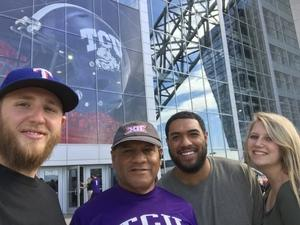Julian attended Big 12 Championship Game - TCU vs. Oklahoma on Dec 2nd 2017 via VetTix