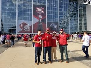 Brian attended Big 12 Championship Game - TCU vs. Oklahoma on Dec 2nd 2017 via VetTix