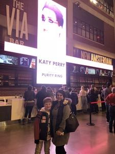 Melissa attended Katy Perry: Witness the Tour on Dec 6th 2017 via VetTix