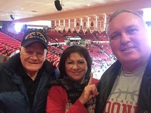 James attended Oklahoma Sooners vs. Northwestern - NCAA Men's Basketball on Dec 22nd 2017 via VetTix