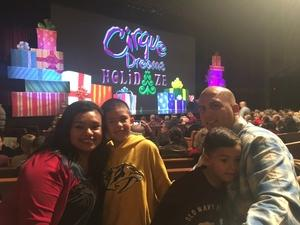 Michael attended Cirque Dreams Holidaze on Dec 5th 2017 via VetTix