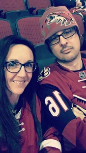 Andrew attended Arizona Coyotes vs. Tampa Bay Lightning - NHL on Dec 14th 2017 via VetTix