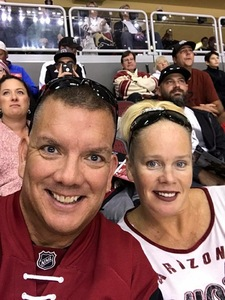 James attended Arizona Coyotes vs. Tampa Bay Lightning - NHL on Dec 14th 2017 via VetTix