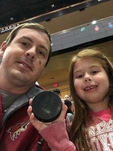 Colin attended Arizona Coyotes vs. Tampa Bay Lightning - NHL on Dec 14th 2017 via VetTix