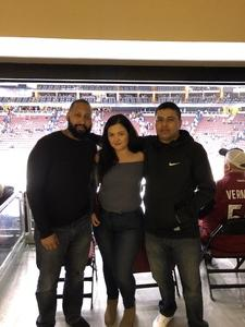 Danny Serrano attended Arizona Coyotes vs. Tampa Bay Lightning - NHL on Dec 14th 2017 via VetTix