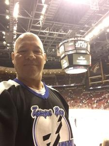 Robert attended Arizona Coyotes vs. Tampa Bay Lightning - NHL on Dec 14th 2017 via VetTix