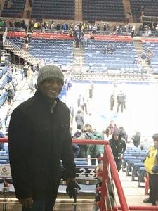 Jermaine attended UCONN Huskies vs. UCF - NCAA Men's Basketball on Jan 10th 2018 via VetTix