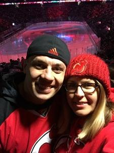 Samantha attended New Jersey Devils vs. Dallas Stars - NHL on Dec 15th 2017 via VetTix