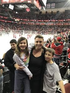 Kendra attended New Jersey Devils vs. Chicago Blackhawks - NHL on Dec 23rd 2017 via VetTix