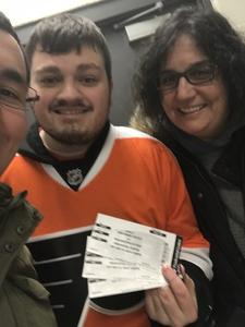 April attended New Jersey Devils vs. Philadelphia Flyers - NHL on Jan 13th 2018 via VetTix