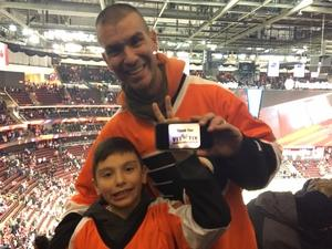 David attended New Jersey Devils vs. Philadelphia Flyers - NHL on Jan 13th 2018 via VetTix