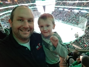 ADAM attended Dallas Stars vs. Columbus Blue Jackets - NHL on Jan 2nd 2018 via VetTix