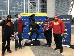 Jan attended Goodyear Cotton Bowl Classic - USC Trojans vs. Ohio State Buckeyes - NCAA Football on Dec 29th 2017 via VetTix