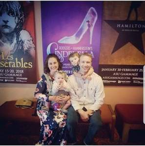 Jhared attended Rodgers + Hammerstein's Cinderella - Christmas Eve Matinee on Dec 24th 2017 via VetTix
