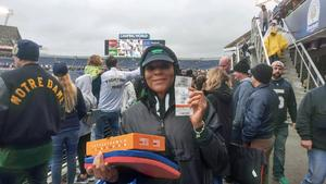 Betty attended Citrus Bowl Presented by Overton's - Notre Dame Fighting Irish vs. LSU Tigers - NCAA Football on Jan 1st 2018 via VetTix