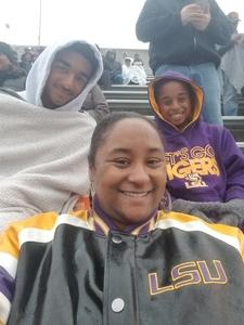 Monica attended Citrus Bowl Presented by Overton's - Notre Dame Fighting Irish vs. LSU Tigers - NCAA Football on Jan 1st 2018 via VetTix