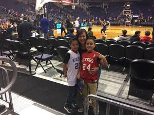 Angela attended Phoenix Suns vs. Philadelphia 76ers - NBA on Dec 31st 2017 via VetTix
