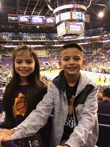 Alex attended Phoenix Suns vs. Philadelphia 76ers - NBA on Dec 31st 2017 via VetTix