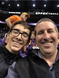 Elizabeth attended Phoenix Suns vs. Philadelphia 76ers - NBA on Dec 31st 2017 via VetTix