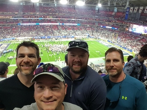 Jason attended Playstation Fiesta Bowl - Washington Huskies vs. Penn State Nittany Lions - NCAA Football on Dec 30th 2017 via VetTix
