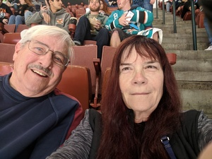 Cheryl attended Anaheim Ducks vs. San Jose Sharks - NHL - Antis Roofing Community Corner! on Jan 21st 2018 via VetTix