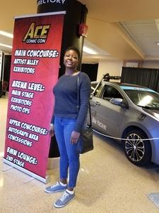Tameka attended Ace Comic Con at Gila River Arena (tickets Only Good for Monday, January 15th) on Jan 15th 2018 via VetTix