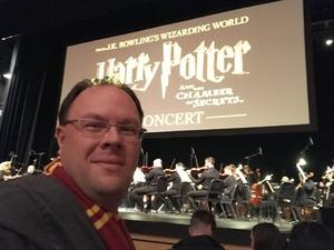 William attended Harry Potter and the Chamber of Secrets in Concert - Friday on Jan 5th 2018 via VetTix