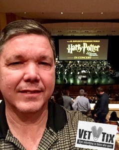 Glenn attended Harry Potter and the Chamber of Secrets in Concert - Saturday Evening on Jan 6th 2018 via VetTix