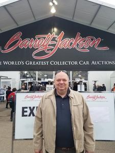 Randy attended Barrett Jackson - the Worlds Greatest Collector Car Auctions - Saturday Jan 20th Only on Jan 20th 2018 via VetTix
