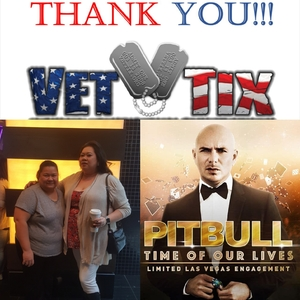 KATHRYN attended Pitbull - Time of Our Lives on Jan 24th 2018 via VetTix