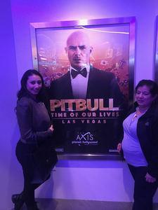 Karen attended Pitbull - Time of Our Lives on Jan 24th 2018 via VetTix