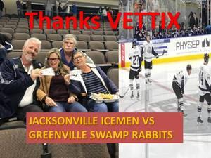 Salvatore attended Jacksonville Icemen vs. Greenville Swamp Rabbits - ECHL on Jan 27th 2018 via VetTix
