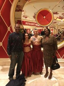 Judie attended Le Reve the Dream at the Wynn Theatre for Tonight on Jan 9th 2018 via VetTix