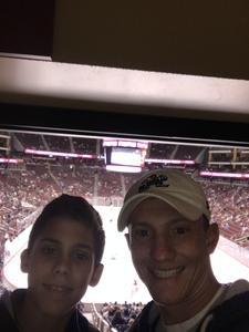nicholas attended Arizona Coyotes vs. Dallas Stars - NHL on Feb 1st 2018 via VetTix