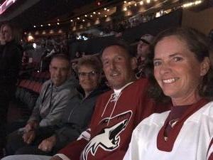 brett attended Arizona Coyotes vs. San Jose Sharks - NHL on Jan 16th 2018 via VetTix