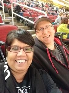 Monica attended Arizona Coyotes vs. San Jose Sharks - NHL on Jan 16th 2018 via VetTix