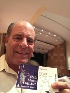 Jay attended Phoenix Symphony Hall Presents: Candide by Leonard Bernstein on Feb 3rd 2018 via VetTix