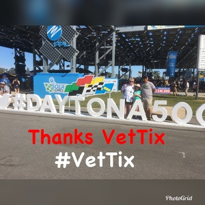 James attended Daytona 500 - the Great American Race - Monster Energy NASCAR Cup Series on Feb 18th 2018 via VetTix