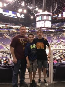 Edward attended Phoenix Suns vs. Charlotte Hornets - NBA on Feb 4th 2018 via VetTix