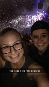 Leslie attended Brad Paisley - Weekend Warrior World Tour With Dustin Lynch, Chase Bryant and Lindsay Ell on Jan 27th 2018 via VetTix
