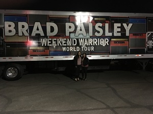 Julia attended Brad Paisley - Weekend Warrior World Tour With Dustin Lynch, Chase Bryant and Lindsay Ell on Jan 27th 2018 via VetTix