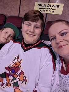 Melodie attended Arizona Coyotes vs. Dallas Stars - NHL on Feb 1st 2018 via VetTix