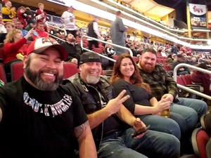 Joe attended Arizona Coyotes vs. Dallas Stars - NHL on Feb 1st 2018 via VetTix