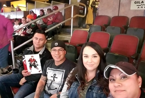 Monica attended Arizona Coyotes vs. Dallas Stars - NHL on Feb 1st 2018 via VetTix
